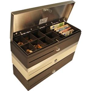 APG Cash Drawer Flip-Top 460 Kassenlade - 1 Medien-Steckplatz/plätze, Druckerschnittstelle - Schwarz - 101,6 mm Höhe x 459