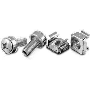 V7 Rack Mount 20 Pcs Extra HW - Rack Screw, Cage Nut - Steel - Black - 20 Piece SCREWS & CAGE NUTS