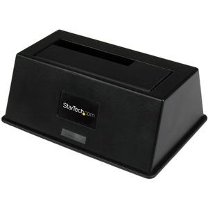 StarTech.com Laufwerk-Dock - USB 3.0 Typ B, eSATA Host Interface - UASP-Support Extern - Schwarz - 1 x HDD unterstützt - 1