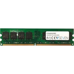 V7 2GB DDR2 PC2-6400 800Mhz DIMM Desktop Memory Module - V764002GBD - For Desktop PC - 2 GB (1 x 2 GB) - DDR2-800/PC2-6400
