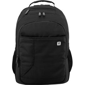 V7 Professional CBP16-BLK-9E Tasche (Rucksack) für 40,6 cm (16 Zoll) Notebook - Schwarz - Witterungsbeständig - Schultergu