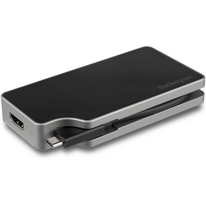 StarTech.com USB-C Multiport Display Adapter - 5-in-1 - 95W Power Delivery - Space Grey - 4K bei 60Hz - integriertes Kabel