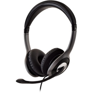 V7 Deluxe USB-Headset mit geräuschunterdrückendem Mikrofon, Lautstärkeregelung, digitales Headset, Laptop, Computer, Chrom