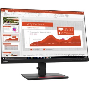"Lenovo ThinkVision T24i-20 23.8"" Full HD WLED LCD Monitor - 16:9 - Raven Black - 24"" Class - In-plane Switching (IPS) Tech"