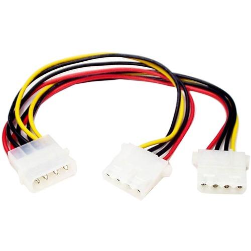 StarTech.com LP4 to 2x LP4 Power Y Splitter Cable - Power cable - 4 pin internal power (F) - 4 pin internal power (M) - Fo