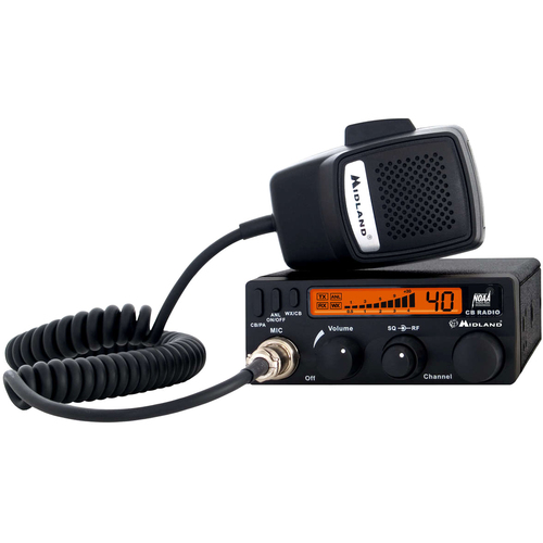 Midland 1001LWX CB Radio 4W 40CH NOAA RF GAIN