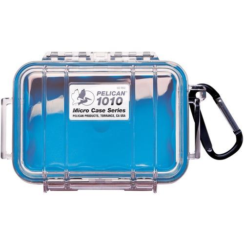 "Pelican 1010 Multi Purpose Micro Case - 4.06"" x 2.12"" x 5.88"" - Blue WITH LINER 4.37X2.87X1.68"