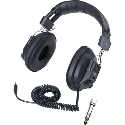 Califone Switchable Stereo/Mono - Mono, Stereo - Black - Mini-phone (3.5mm) - Wired - 36 Ohm - Over-the-head - Binaural -