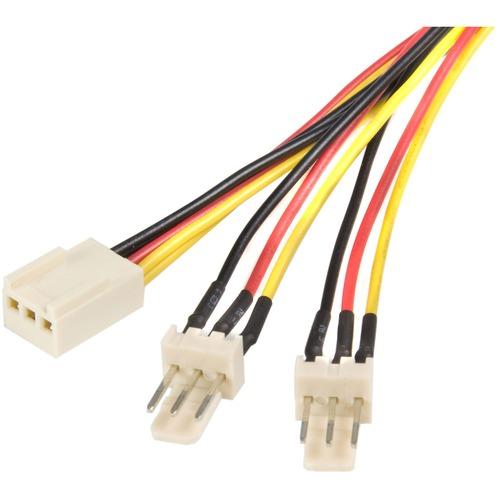 StarTech.com 30,5cm / 30cm TX3 Fan Power Splitter Cable - TX3 Splitter Cable - 1ft