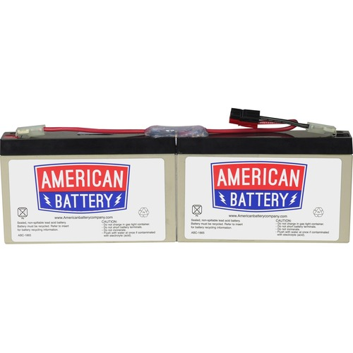 ABC Replacement Battery Cartridge #18 - Maintenance-free Lead Acid Hot-swappable FOR APC UNITS 2YR WARRANTY