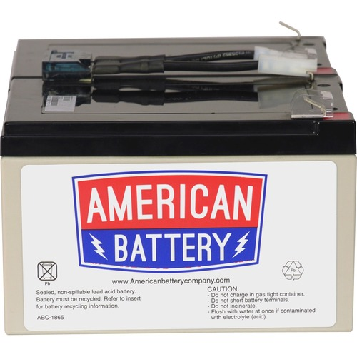 ABC Replacement Battery Cartridge #6 - Maintenance-free Lead Acid Hot-swappable FOR APC UNITS 2YR WARRANTY