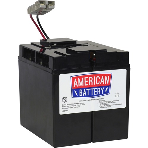 ABC Replacement Battery Cartrige#7 - Maintenance-free Lead Acid Hot-swappable FOR APC UNITS 2YR WARRANTY