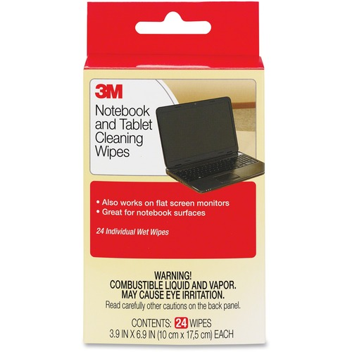 3M Notebook Screen Cleaning Wipes - 24 / Pack PACK OF 24, CASE OF 36