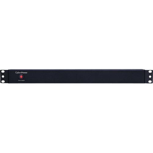 CyberPower PDU15B8R 100 - 125 VAC 15A Basic PDU - 8 Outlets, 15 ft, NEMA 5-15P, Horizontal, 1U, Lifetime Warranty 120V 8R