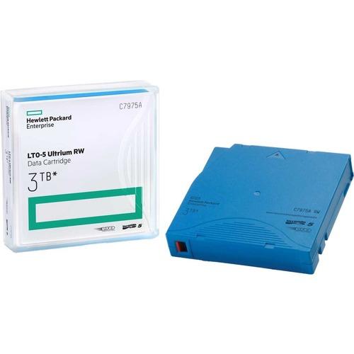 HPE Rewritable LTO 5 Data Cartridge - LTO-5 - 1.50 TB (Native) / 3 TB (Compressed) - 2775.59 ft Tape Length - 1 Pack TAPE
