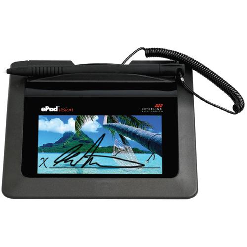 "ePad-vision VP9808 Signature Pad - LCDUSB - 3.74"" x 2.12"" Active Area LCD - USB WITH INTEGRISIGN DESKTOP SW"