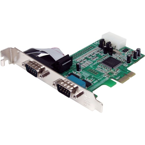 StarTech.com 2 Port PCIe Serial Adapter Card with 16550 - Add 2 RS-232 serial ports to your standard or small form factor