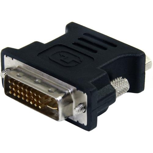 StarTech.com DVI auf VGA Adapter - St/Bu - Schwarz - DVI-I (Dual-Link) Stecker Video - HD-15 Buchse VGA - Schwarz