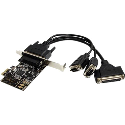 StarTech.com 2S1P PCI Express Schnittstellenkarte - PCIe Seriell / Parallel Karte mit Breakout Kabel - PCI Express x1 - PC