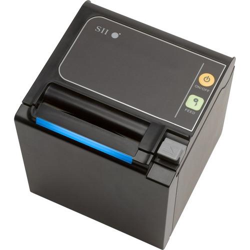 Seiko Qaliber RP-E10 Desktop Direct Thermal Printer - Monochrome - Receipt Print - USB - Onyx Black - LED Display Screen -