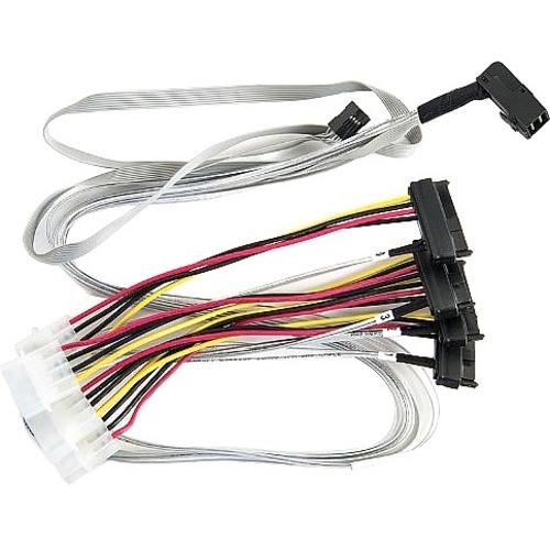 Microchip Adaptec 80 cm Mini-SAS HD/SAS Datentransferkabel für Festplatte - Erster Anschluss: 1 x SFF-8643 Mini-SAS HD - Z