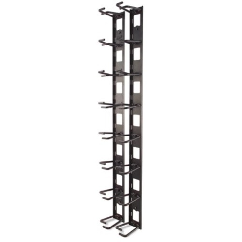 APC Vertical Cable Organizer - Black FOR NETSHELTER VX CHANNEL