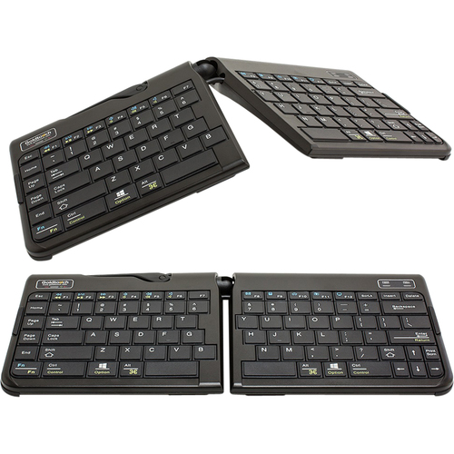 Goldtouch Go 2 Bluetooth Mobile Keyboard - Wireless Connectivity - Bluetooth - USB Interface - English, French - Computer,