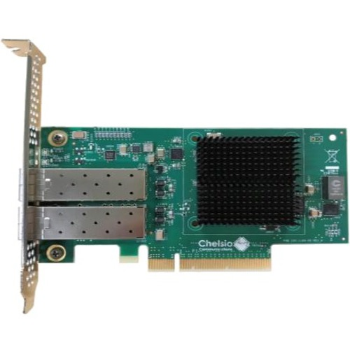 Chelsio 2-port Low Profile 1/10GbE Server Offload Adapter with PCI-E x8 Gen 3, Server Offload. SFP+ connector - 10GbE Unif