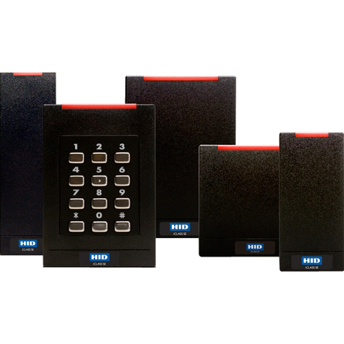 "HID iCLASS SE RK40 Smart Card Reader - Cable - 3.40"" Operating Range - Black STD SIO SEOS WIEG BLK STD 1 LED OFF"