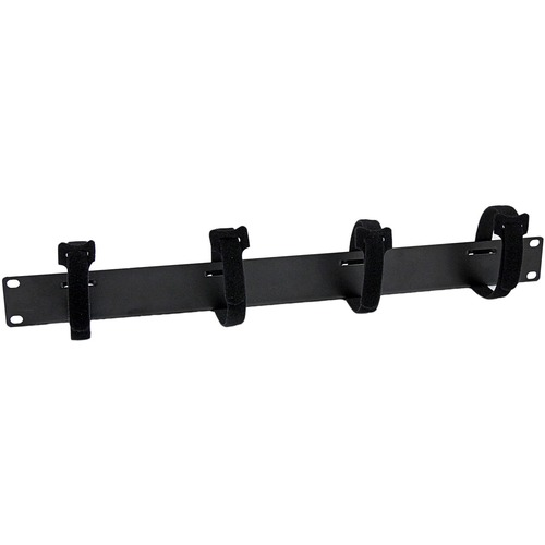 StarTech.com Cable Management Panel with Hook and Loop Strips for Server Racks - 1U - 1U Height - Steel