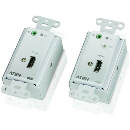 ATEN HDMI Over Cat 5 Extender Wall Plate-TAA Compliant - 1 Input Device - 1 Output Device - 196.85 ft Range - 4 x Network