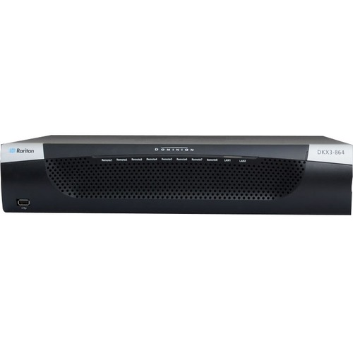 Raritan Dominion KX III DKX3-864 KM Switchbox - 8 Computer(s) - 1 Local User(s) - 8 Remote User(s) - 1920 x 1080 - 68 x Ne
