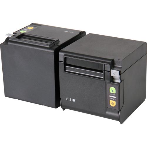 "Seiko Qaliber RP-D10-K27J1-E Desktop Direct Thermal Printer - Monochrome - Receipt Print - Ethernet - Black - 2.83"" Print"