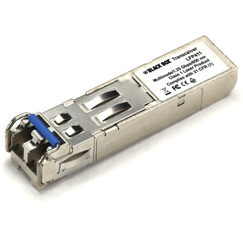 Black Box EXTR SFP EXT DIAG - (1) 1.25-Gbps MM, 850nm, 550m, LC - For Data Networking, Optical Network - 1 x LC 1000Base-X