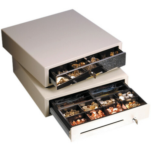 Star Micronics CB-2002FN Kassenlade - 4 Banknotenfächer - 8 Münzfächer - 3 Schließmodi - Metall - Grau - 114 mm Höhe x 410