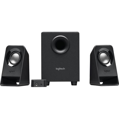 Logitech Z213 2.1 Speaker System - 7 W RMS - Desktop - 65 Hz to 20 kHz - 1 Pack CONTROL POD W/ VOL & BASS