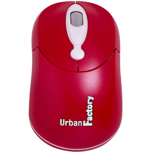Urban Factory Crazy Mouse - Optical - Cable - Red - USB - 800 dpi - Scroll Wheel - 3 Button(s) - Symmetrical USB WIRED MOU