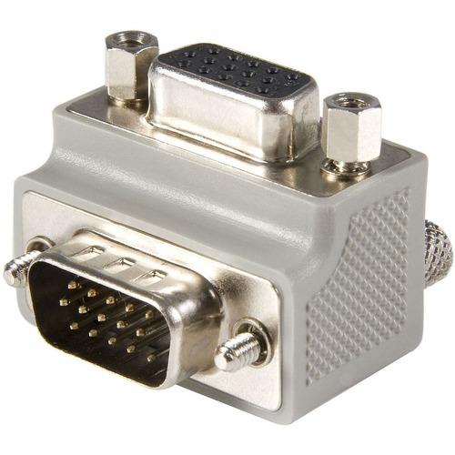 StarTech.com VGA auf VGA Kabel Adapter rechts gewinkelt - Bu/Bu - 1 x HD-15 Stecker VGA - 1 x HD-15 Buchse VGA - Grau