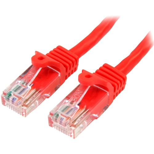 StarTech.com 2m Cat5e RJ45 UTP Netzwerkkabel Snagless - Cat 5e Patchkabel - Rot - Erster Anschluss: 1 x RJ-45 Stecker Netz