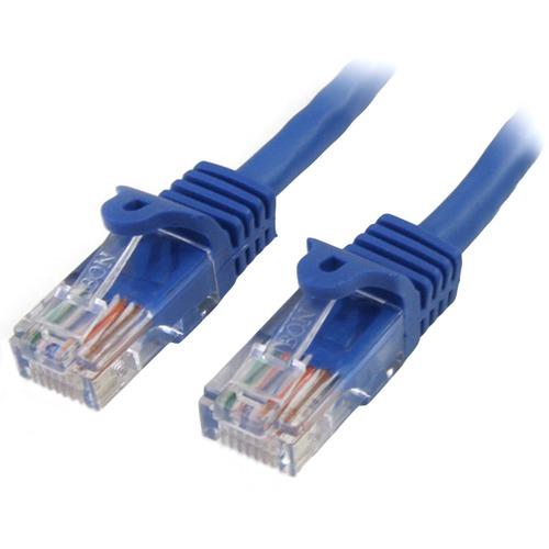 StarTech.com 3m Cat5e RJ45 UTP Netzwerkkabel Snagless - Cat 5e Patchkabel - Blau - Erster Anschluss: 1 x RJ-45 Stecker Net