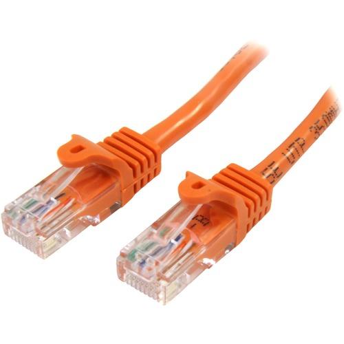 StarTech.com 3m Cat5e RJ45 UTP Netzwerkkabel Snagless - Cat 5e Patchkabel - Orange - Erster Anschluss: 1 x RJ-45 Stecker N