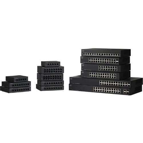 Cisco SG110D-05 Ethernet Switch - 5 Ports - 1000Base-X - 2 Layer Supported - Wall Mountable, Rack-mountable, Desktop - 90