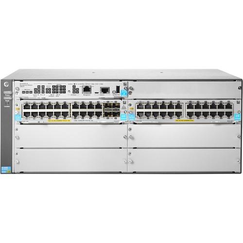 Aruba 5406R 44GT PoE+/4SFP+ (No PSU) v3 zl2 Switch - 44 Ports - Manageable - Gigabit Ethernet, 10 Gigabit Ethernet - 10/10