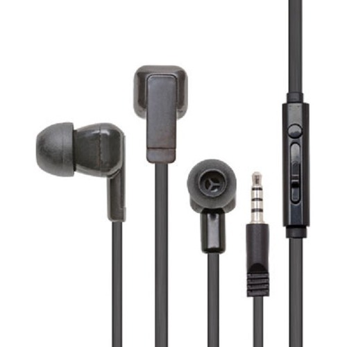 Califone Earbuds With Mic And To Go Plug - Stereo - Mini-phone (3.5mm) - Wired - 16 Ohm - 12 Hz - 22 kHz - Earbud - Binaur