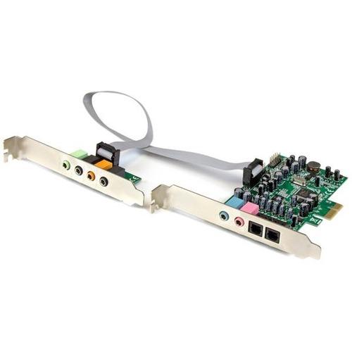 StarTech.com 7.1 Kanal PCI Express Soundkarte - 24-bit - 192KHz - C-Medien - PCI Express x1 - 92 dB - S/PDIF-Ausgang