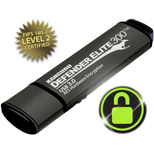 16GB DEFENDER ELITE 300 FLASH DRIVE FIPS 140-2 ENCRYPTED