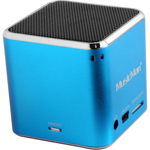 Système de Haut-Parleurs Technaxx MusicMan BT-X2 Portable Bluetooth - Bleu - Batterie rechargeable