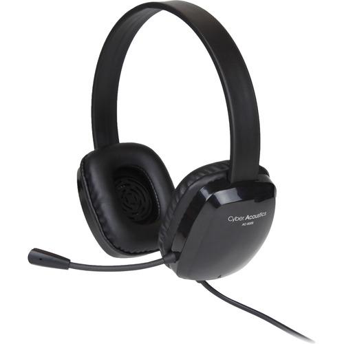 Cyber Acoustics Stereo Headset w/ Single Plug - Stereo - Mini-phone (3.5mm) - Wired - 20 Hz - 20 kHz - Over-the-head - Bin