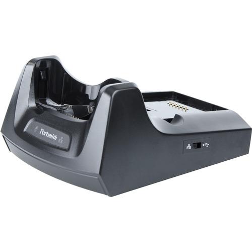 PORTSMITH E-CRADLE KIT: 1-Slot USB to Ethernet for Moto MC55/65/67 series. (Includes MC67UE-Cradle; 12V PS; US Line Cord;