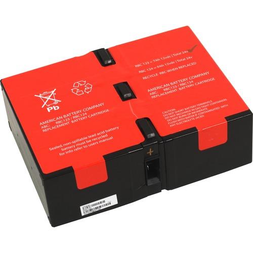 ABC RBC124 UPS Repacement Battery for APC - 9000 mAh - 12 V DC - Lead Acid - Maintenance-free/Sealed - Hot Pluggable - Hot